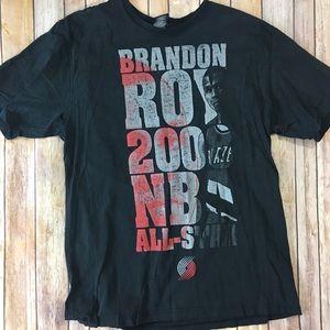 Mens 2XL Brandon Roy Portland Trailblazers T-shirt